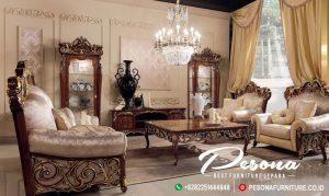 Sofa Ruang Tamu Mewah Jati Klasik, Set Sofa Tamu Ukir Khas Jepara Terbaru