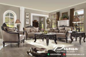 Sofa Tamu Jati Mewah Klasik Terbaru, Desain Sofa Ruang Tamu Mewah
