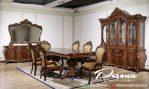 Furniture Meja Makan Kayu Jati Mewah Ukir Klasik Khas Jepara