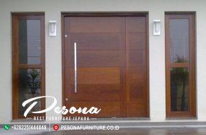 Model Kusen Pintu Rumah Modern Mewah Terbaru Kayu Jati
