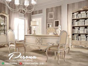 New Desain Meja Direktur Kantor Mewah Klasik Mebel Jepara