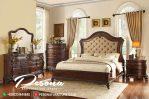 New Desain Tempat Tidur Kayu Jati Klasik Mewah Natural