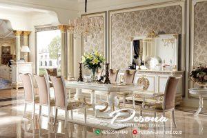 Produk Furniture Meja Makan Mewah Jepara Model Ukir Klasik