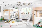 Desain Terbaru Tempat Tidur Anak Tingkat Warna Putih Duco