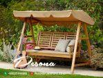 Furniture Ayunan Taman Kayu Jati Out Door Model Minimalis Terbaru