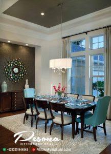 Furniture Meja Makan Minimalis Kursi 8 Terbaru Kayu Jati