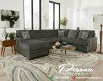 Furniture Sofa Ruang Tamu Sudut Leter L Minimalis Rumah Modern