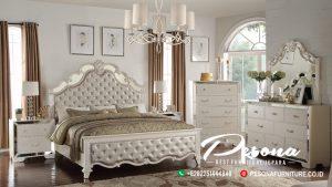 Set Tempat Tidur Mewah Jepara Model Kaca Duco Klasik Terbaru