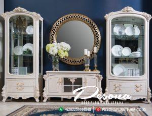 Bufet Meja Set Tv Mewah Dengan Nuansa Classic Jepara