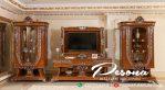 Cabinet Bufet Meja Tv Jati Ukir Mewah Desain Modern Classic