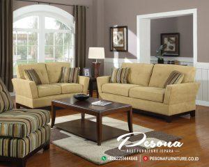 Desain Set Sofa Minimalis Jati Ruang Tamu Terbaru