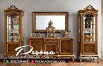 Set Meja Bufet Tv Jati Mewah Ukir Furniture Jepara Modern