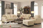 Set Sofa Ruang Tamu Keluarga Modern Minimalis Jati