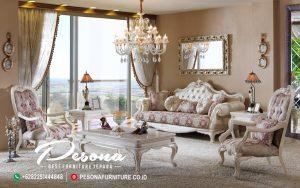 Sofa Ruang Tamu Mewah Classic Dengan Nuansa Ukir Classic Terbaru