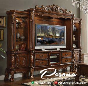 Jual Set Cabinet Almari Bufet Tv Jati Mewah