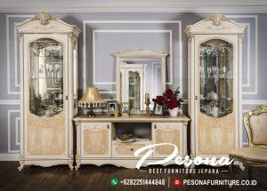 Set Bufet Tv Mewah Luxury Classic Desain Terlaris