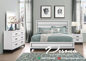Tempat Tidur Minimalis Warna Putih