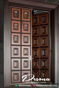 Pintu Rumah Kusen Jati Desain Modern