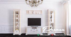 Set Bufet Meja Cabinet Tv Putih Gold
