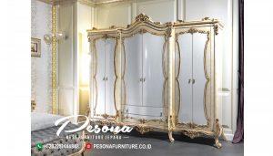 Almari Pakaian Pintu 6 Afitap Klasik Mewah Jepara
