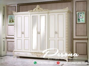 Almari Pakaian Pintu 6 Ukir Mewah Jepara