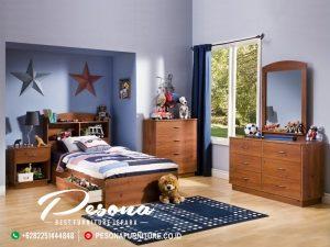 Desain Tempat Tidur Kayu Jati Untuk Anak Laki-Laki