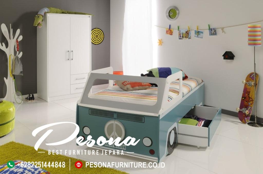 Model Kamar Tidur Anak Laki-Laki Bentuk Mobil