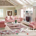 Sofa Tamu Minimalis Jepara New Desain Pink