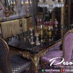 Kursi Makan Dengan Ukir Mewah Klasik, Set Meja Makan Klasik Jepara