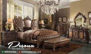 Set Tempat Tidur Jati Ukir Klasik Full Jok, Model Tempat Tidur Mewah Jepara