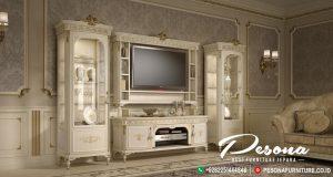 Bufet Tv Dan Meja Nuansa Mewah Klasik Terbaru, Set Bufet Tv Jepara