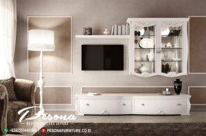 Bufet Tv Minimalis Model Terbaru Duco Putih, Bufet Tv Modern Minimalis Jepara