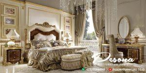 Set Tempat Tidur Mewah Ukir Klasik Khas Jepara, Model Terbaru Kamar Tidur Mewah