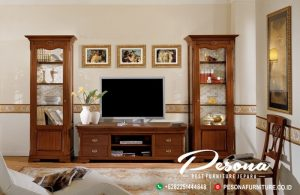 Bufet Tv Kayu Jati Minimalis Terbaru, Ruang Tv Dengan Desain Bufet Tv Minimalis
