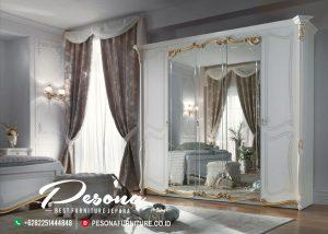 Lemari Pakaian Kaca Mewah Jepara, Furniture Almari Pakaian Klasik Terbaru