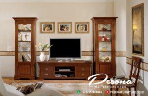 Jual Bufet Tv Minimalis Kayu Jati Jepara, Set Bufet Tv Minimalis Modern