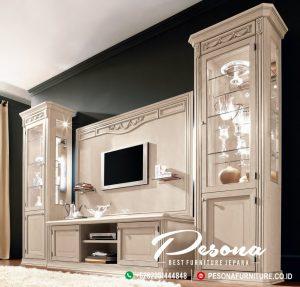 Set Bufet Tv Cat Duco Minimalis Modern Mebel Jepara Terbaru