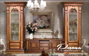 Set Bufet Tv Jati Klasik Mewah Desain Terbaru Mebel Jepara