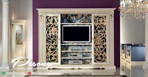 Bufet Tv Mewah Duco Klasik Jepara, Desain Bufet Tv Mewah