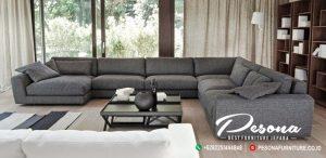 Sofa Tamu Sudut L Minimalis Full Bungkus Jok Desain Rumah Modern