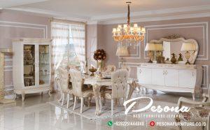 Meja Makan Mewah Duco Klasik Turky Dengan Dudukan Empuk