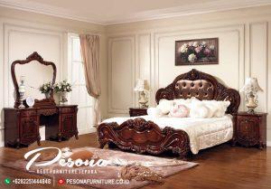 Tempat Tidur Set Kayu Jati New Desain Mewah Klasik Jepara