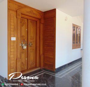 New Desain Kusen Pintu Mewah Utama Rumah Mebel Jepara
