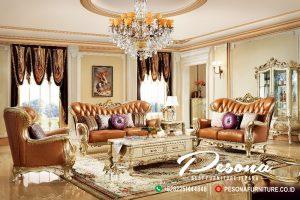 Set Sofa Tamu Mewah Jepara Desain Luxcury Classic Ukir