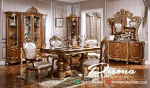 Furniture Meja Makan Set Ruang Makan Mewah Classic Terbaru