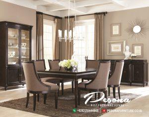 Set Meja Ruang Makan Jati Minimalis Modern
