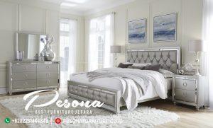 Desain Set Tempat Tidur Modern Kaca
