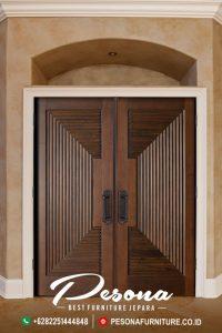 Pintu Rumah Jati Desain Modern